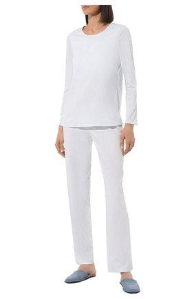 Женская хлопковая пижама LOUISFERAUD светло-голубого цвета, арт. 3883013   Фото 2