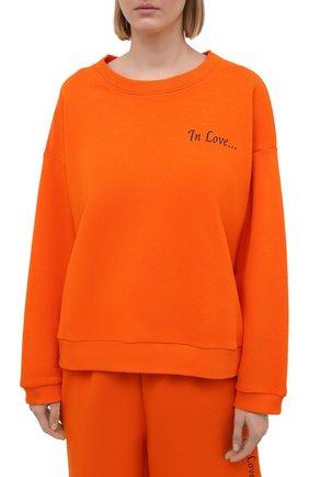 Женский хлопковый костюм SEVEN LAB оранжевого цвета, арт. SWS21-IL orange   Фото 2