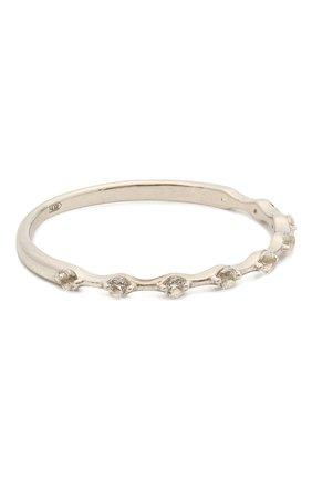 Женское кольцо с белыми топазами покрытое родием MOONKA STUDIO серебряного цвета, арт. bh-sr-r   Фото 1