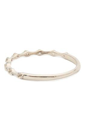 Женское кольцо с белыми топазами покрытое родием MOONKA STUDIO серебряного цвета, арт. bh-sr-r   Фото 2
