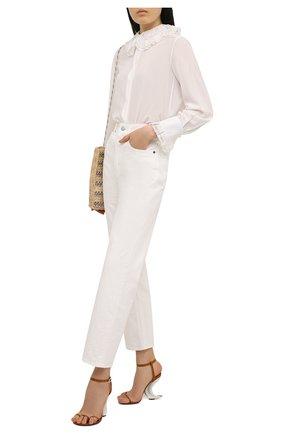 Женские кожаные босоножки show horn GIVENCHY светло-коричневого цвета, арт. BE305GE0ZW | Фото 2