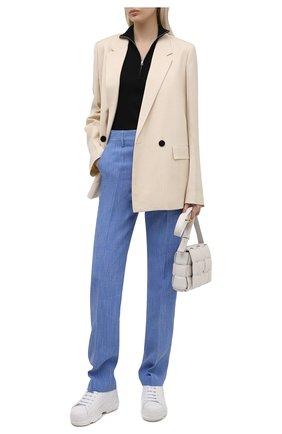 Женские кожаные кроссовки REDVALENTINO белого цвета, арт. VQ0S0F55/STP   Фото 2