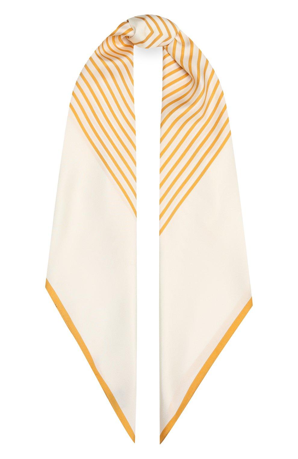 Женский шелковый платок LORO PIANA желтого цвета, арт. FAL5126   Фото 1