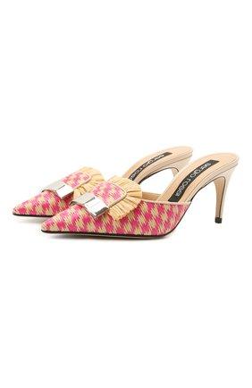 Женские комбинированные мюли sr 1 SERGIO ROSSI розового цвета, арт. A80150-MFI363 | Фото 1