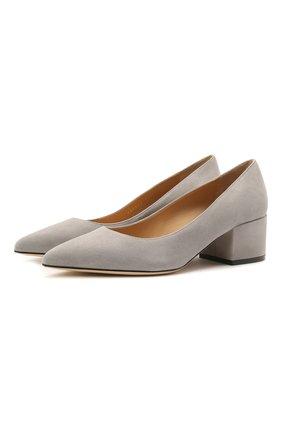 Женские замшевые туфли SERGIO ROSSI серого цвета, арт. A85323-MCAZ01 | Фото 1