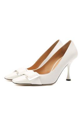 Женские кожаные туфли twenty SERGIO ROSSI белого цвета, арт. A90531-MFN595 | Фото 1