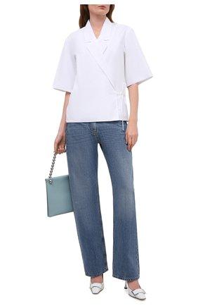 Женские кожаные туфли twenty SERGIO ROSSI белого цвета, арт. A90531-MFN595 | Фото 2