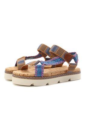 Женские комбинированные сандалии CASADEI разноцветного цвета, арт. 1L847S0301PAPEEMULC | Фото 1