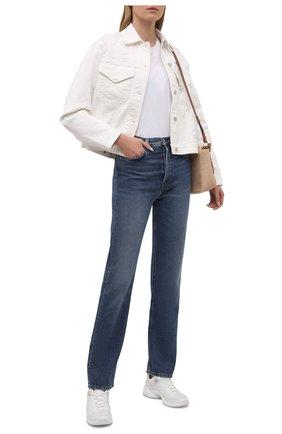 Женские текстильные кроссовки sparks MICHAEL MICHAEL KORS белого цвета, арт. 43S1SPFS6D | Фото 2