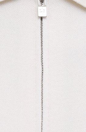 Женский шелковый кардиган LORO PIANA кремвого цвета, арт. FAL5214 | Фото 5