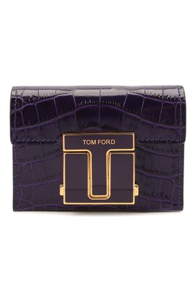 Женская сумка 001 mini TOM FORD фиолетового цвета, арт. S0345E-LCL150   Фото 1 (Материал: Натуральная кожа; Сумки-технические: Сумки через плечо; Размер: mini; Ремень/цепочка: На ремешке; Женское Кросс-КТ: Вечерняя сумка)