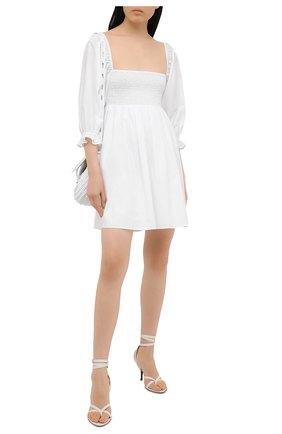 Женские кожаные босоножки TOM FORD белого цвета, арт. W2885T-LCL107 | Фото 2