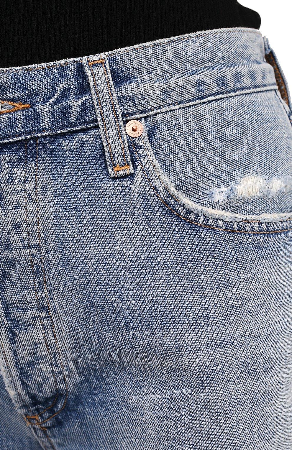 Женские джинсовые шорты CITIZENS OF HUMANITY голубого цвета, арт. 1928-837 | Фото 5 (Женское Кросс-КТ: Шорты-одежда; Кросс-КТ: Деним; Материал внешний: Хлопок, Деним; Длина Ж (юбки, платья, шорты): До колена; Стили: Кэжуэл)