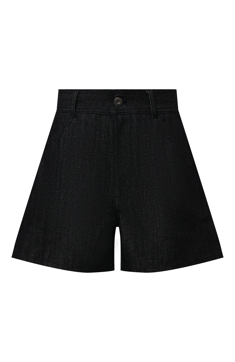 Женские джинсовые шорты JIL SANDER темно-синего цвета, арт. JPPS663122-WS246700 | Фото 1 (Женское Кросс-КТ: Шорты-одежда; Кросс-КТ: Деним; Длина Ж (юбки, платья, шорты): Мини; Материал внешний: Хлопок; Стили: Минимализм)