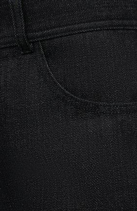 Женские джинсовые шорты JIL SANDER темно-синего цвета, арт. JPPS663122-WS246700 | Фото 5 (Женское Кросс-КТ: Шорты-одежда; Кросс-КТ: Деним; Длина Ж (юбки, платья, шорты): Мини; Материал внешний: Хлопок; Стили: Минимализм)