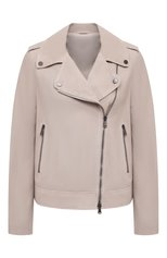 Женская замшевая куртка BRUNELLO CUCINELLI светло-бежевого цвета, арт. M0PCL2873P | Фото 1 (Кросс-КТ: Куртка; Рукава: Длинные; Материал подклада: Синтетический материал; Стили: Кэжуэл; Длина (верхняя одежда): Короткие; Женское Кросс-КТ: Замша и кожа; Материал внешний: Замша)
