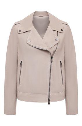Женская замшевая куртка BRUNELLO CUCINELLI светло-бежевого цвета, арт. M0PCL2873P   Фото 1