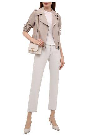 Женская замшевая куртка BRUNELLO CUCINELLI светло-бежевого цвета, арт. M0PCL2873P   Фото 2