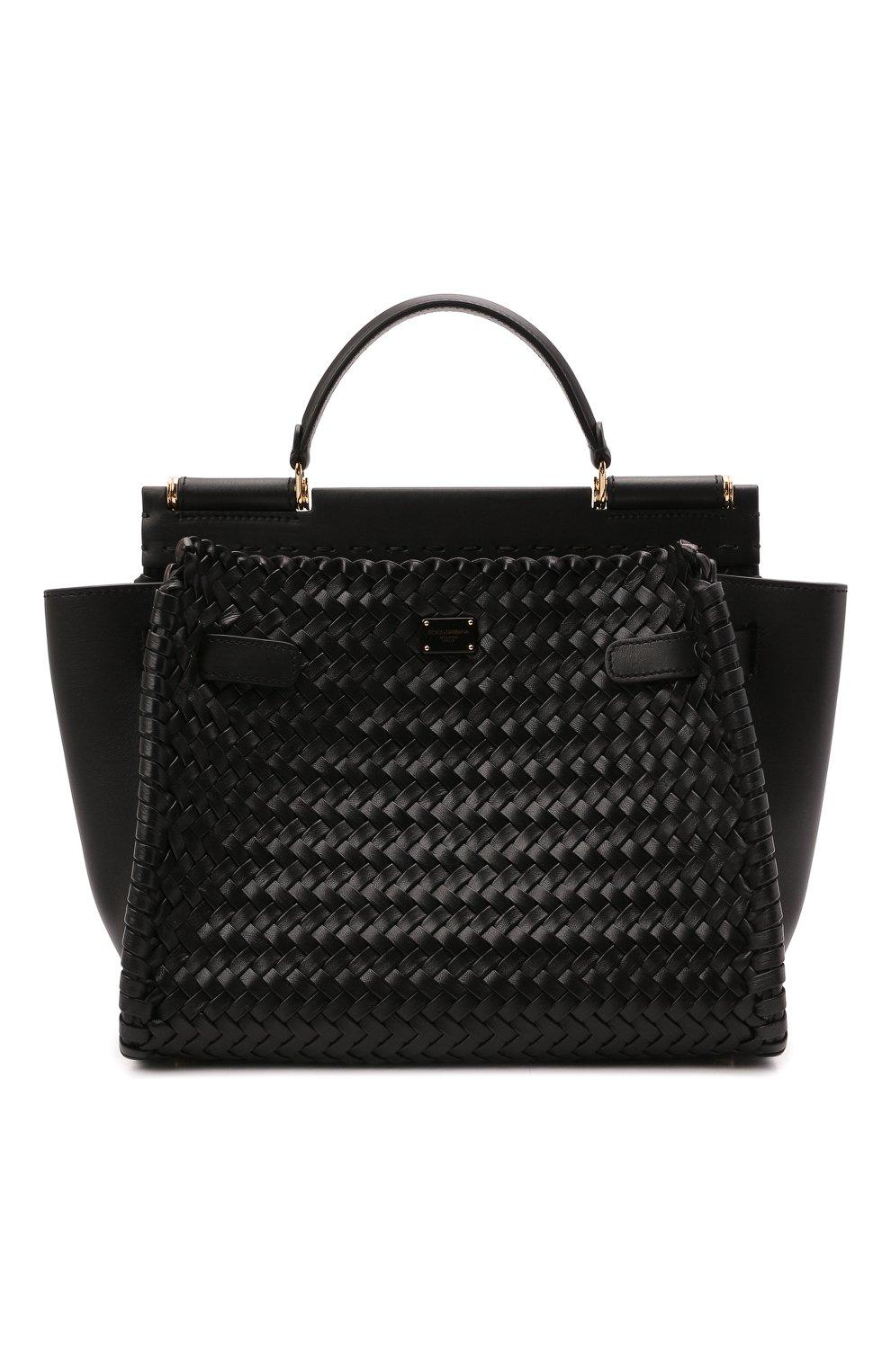Женская сумка sicily 62 medium DOLCE & GABBANA черного цвета, арт. BB6891/A0398   Фото 1