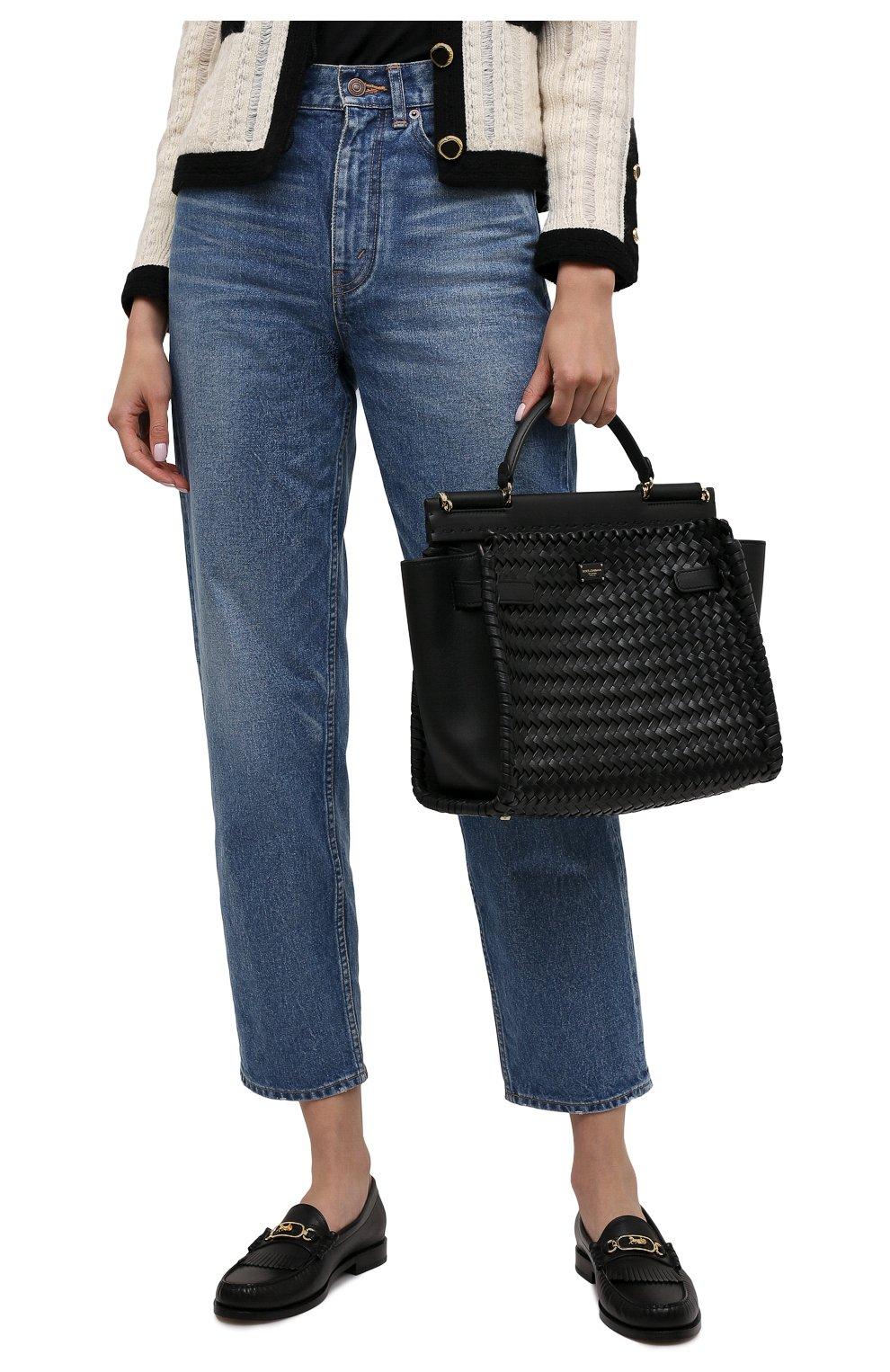 Женская сумка sicily 62 medium DOLCE & GABBANA черного цвета, арт. BB6891/A0398   Фото 2
