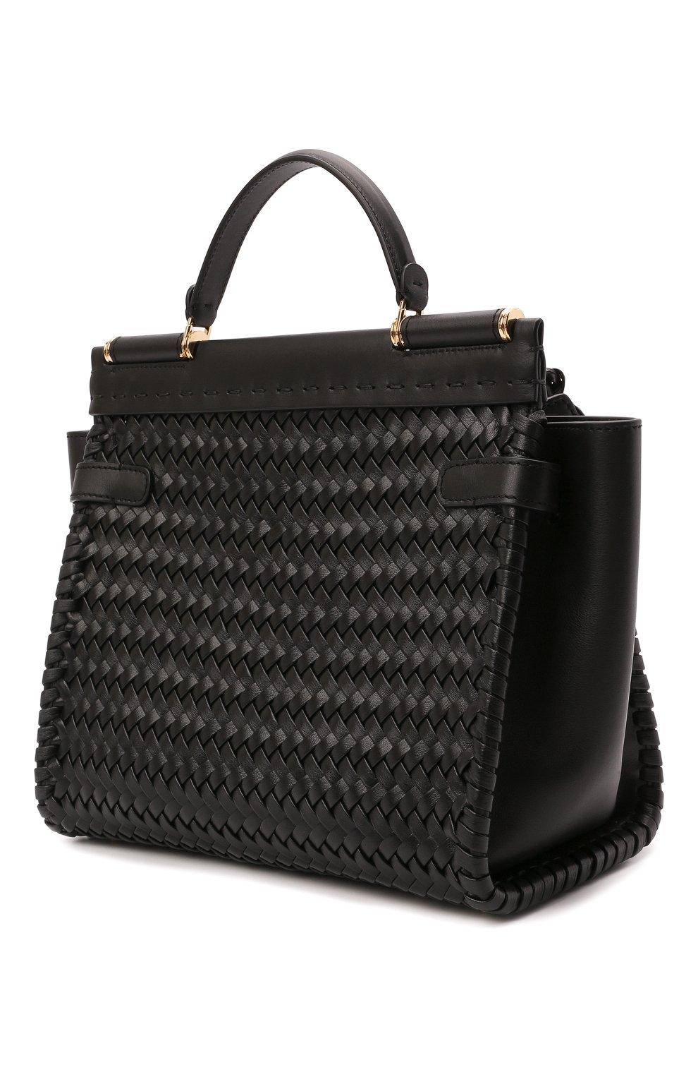 Женская сумка sicily 62 medium DOLCE & GABBANA черного цвета, арт. BB6891/A0398   Фото 3
