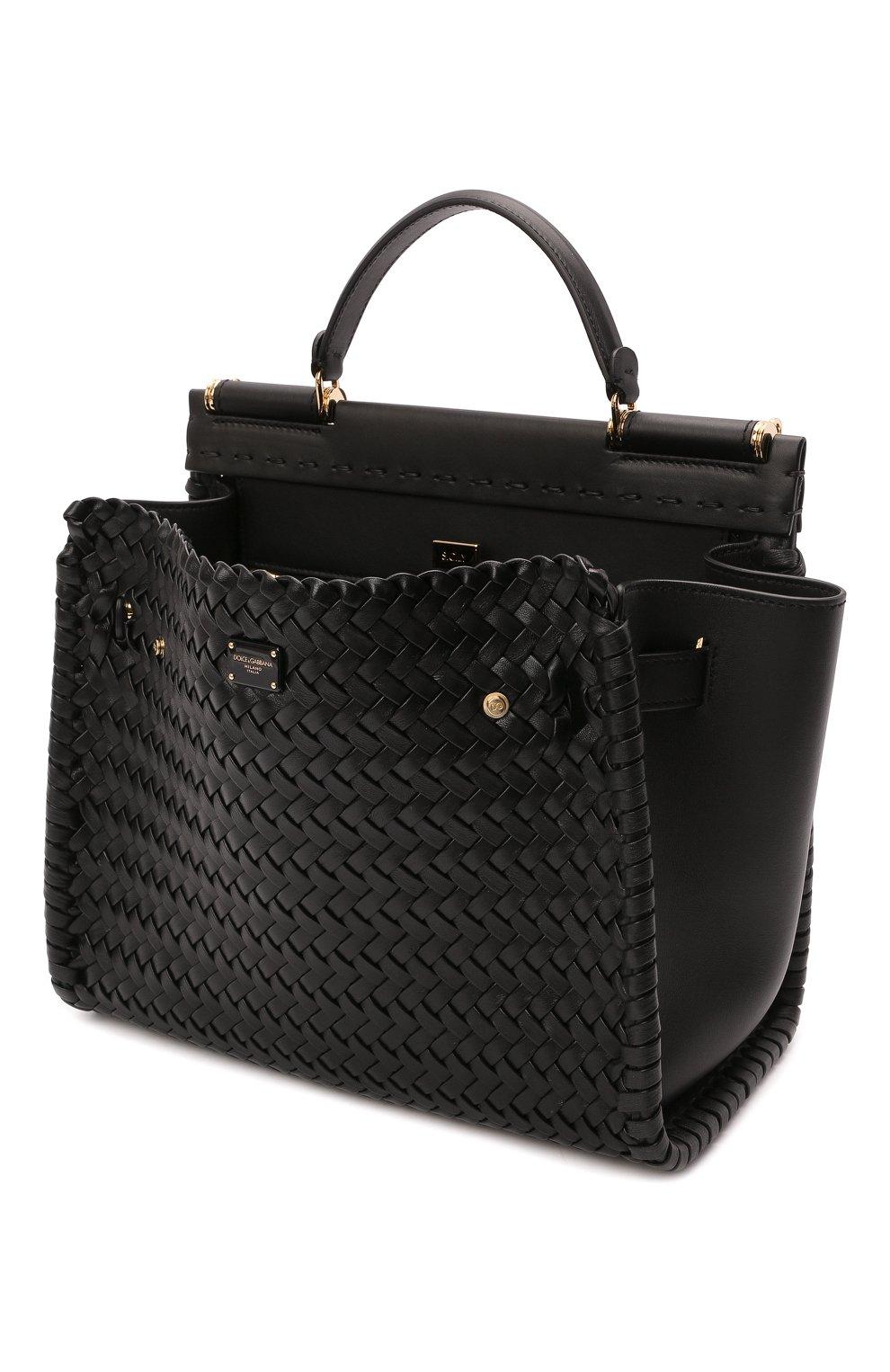 Женская сумка sicily 62 medium DOLCE & GABBANA черного цвета, арт. BB6891/A0398   Фото 4