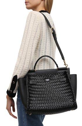 Женская сумка sicily 62 medium DOLCE & GABBANA черного цвета, арт. BB6891/A0398   Фото 5