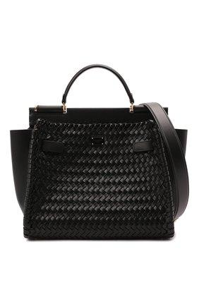 Женская сумка sicily 62 medium DOLCE & GABBANA черного цвета, арт. BB6891/A0398   Фото 6