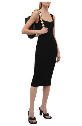 Женское платье из вискозы HELMUT LANG черного цвета, арт. L02HW708 | Фото 2
