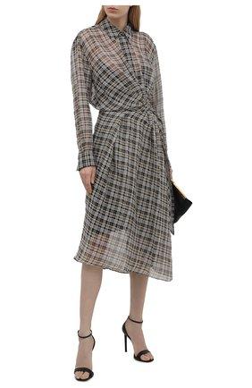 Женское платье BRUNELLO CUCINELLI коричневого цвета, арт. MP754A4809 | Фото 2 (Материал внешний: Шерсть; Случай: Повседневный; Женское Кросс-КТ: платье-рубашка, Платье-одежда; Рукава: Длинные; Материал подклада: Синтетический материал; Длина Ж (юбки, платья, шорты): Миди; Стили: Романтичный)