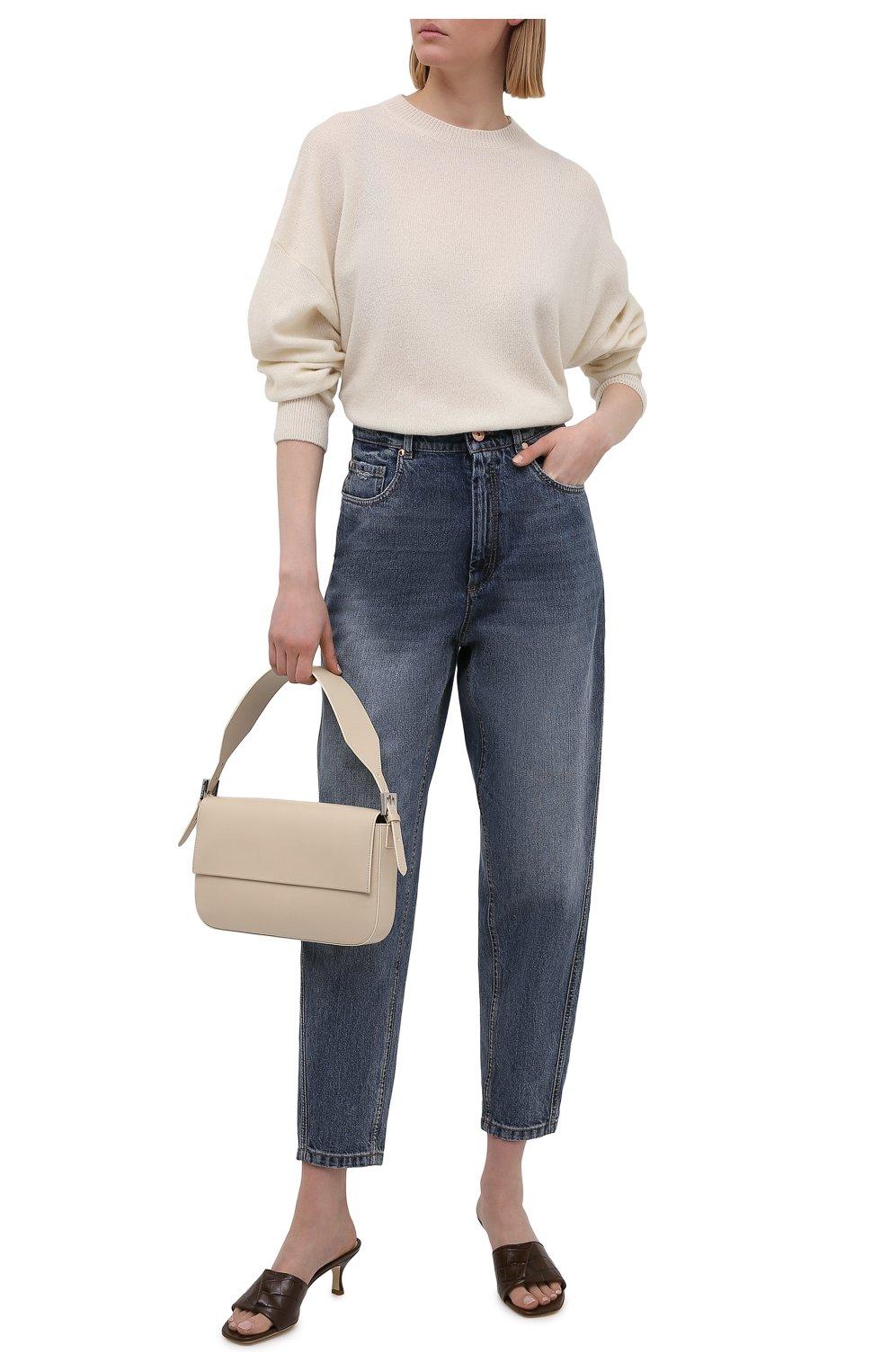Женские джинсы BRUNELLO CUCINELLI темно-синего цвета, арт. MP095P5654 | Фото 2
