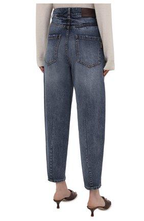 Женские джинсы BRUNELLO CUCINELLI темно-синего цвета, арт. MP095P5654 | Фото 4