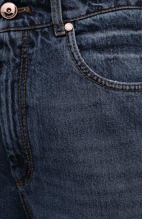 Женские джинсы BRUNELLO CUCINELLI темно-синего цвета, арт. MP095P5654 | Фото 5
