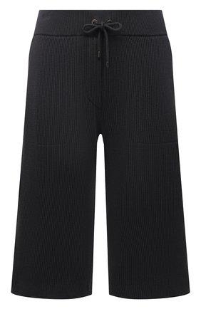 Женские хлопковые шорты BRUNELLO CUCINELLI темно-серого цвета, арт. M19196789P | Фото 1