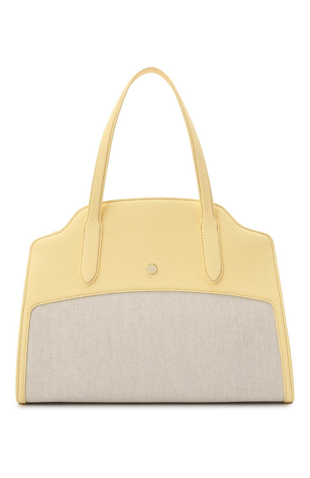 Женская сумка sesia large LORO PIANA желтого цвета, арт. FAL6780   Фото 1