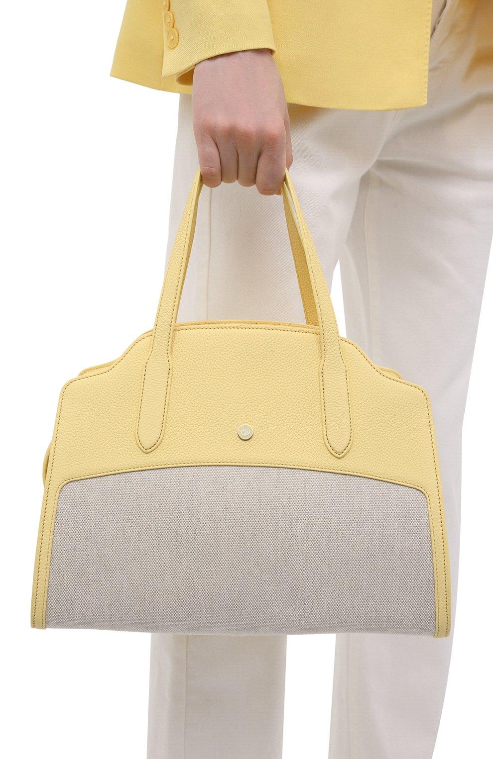 Женская сумка sesia large LORO PIANA желтого цвета, арт. FAL6780   Фото 2