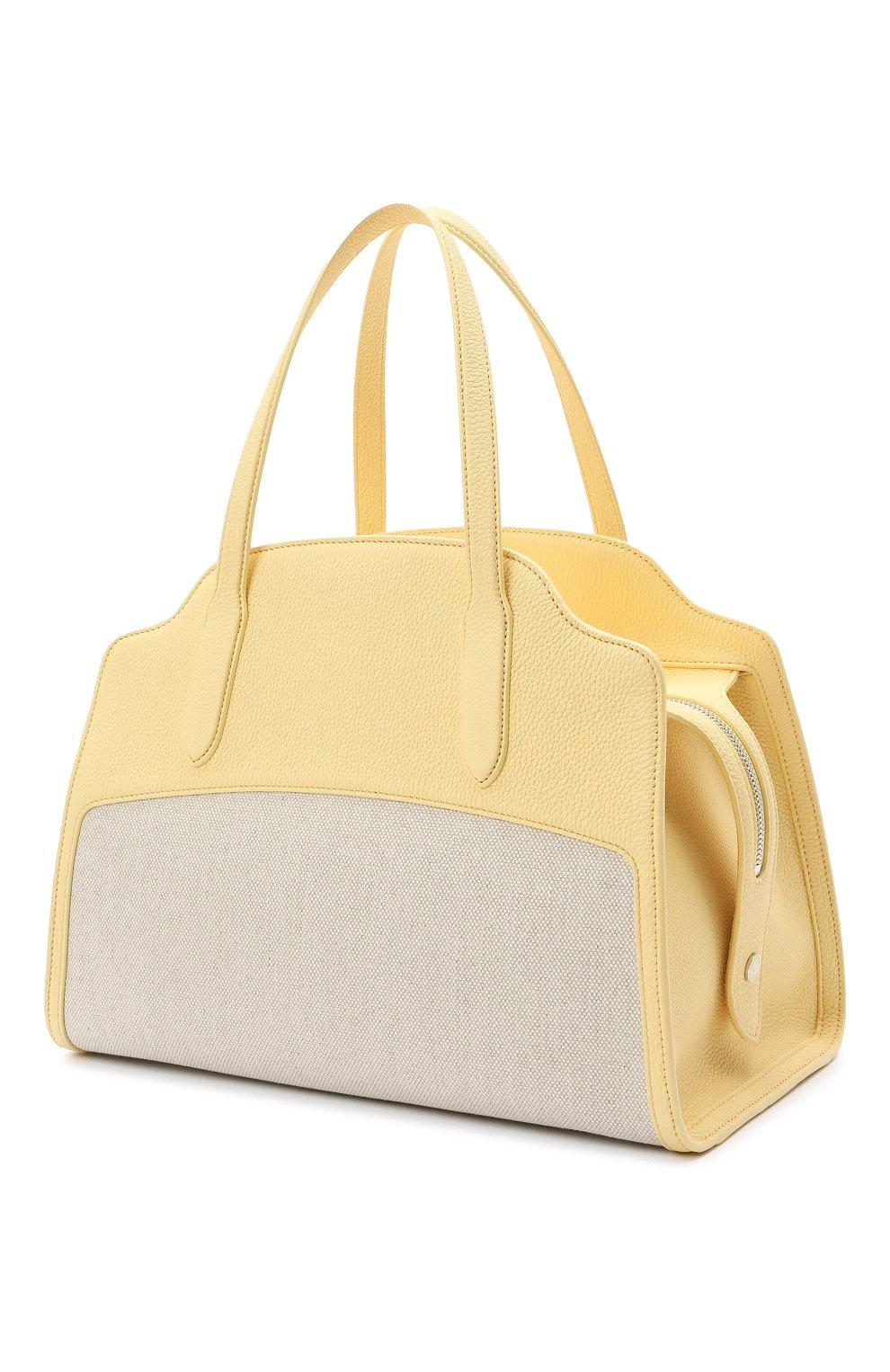 Женская сумка sesia large LORO PIANA желтого цвета, арт. FAL6780   Фото 3