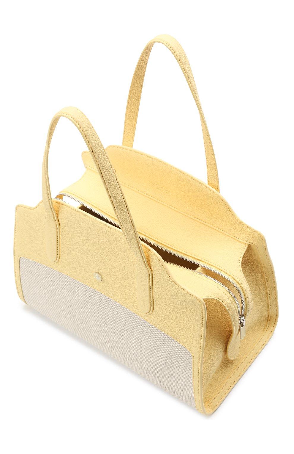 Женская сумка sesia large LORO PIANA желтого цвета, арт. FAL6780   Фото 4