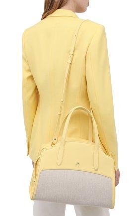 Женская сумка sesia large LORO PIANA желтого цвета, арт. FAL6780   Фото 5