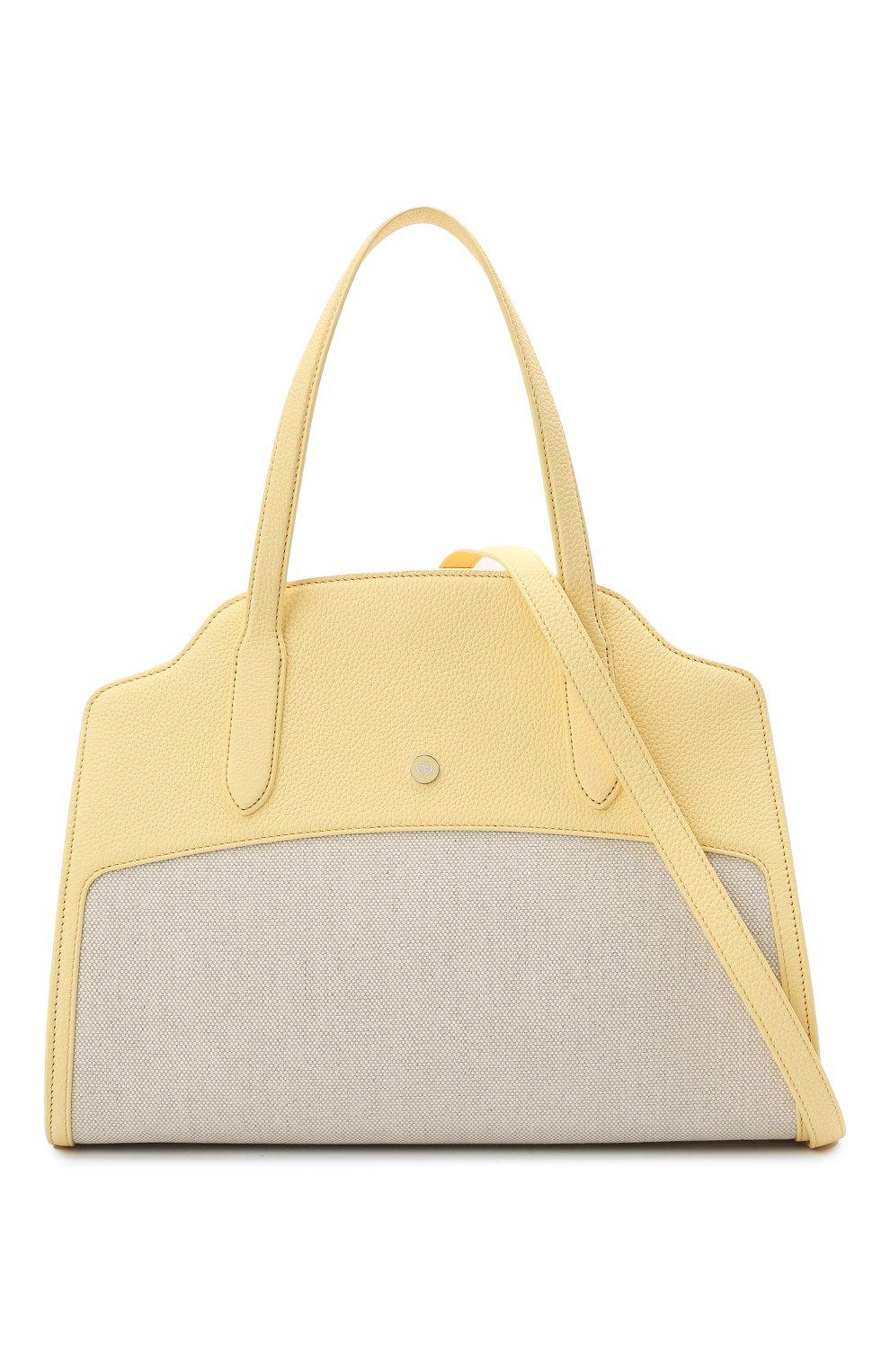 Женская сумка sesia large LORO PIANA желтого цвета, арт. FAL6780   Фото 6
