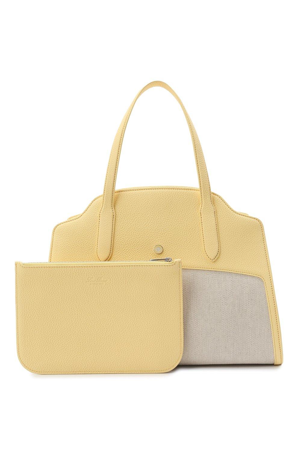 Женская сумка sesia large LORO PIANA желтого цвета, арт. FAL6780   Фото 7