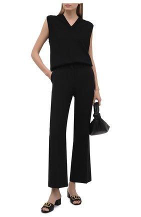 Женские кожаные мюли vlogo signature VALENTINO черного цвета, арт. VW0S0M60/HWS | Фото 2