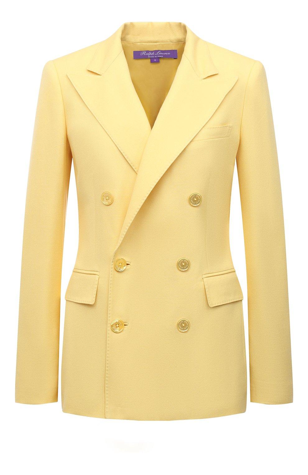 Женский кашемировый жакет RALPH LAUREN желтого цвета, арт. 290625543 | Фото 1