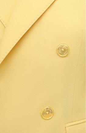 Женский кашемировый жакет RALPH LAUREN желтого цвета, арт. 290625543 | Фото 5