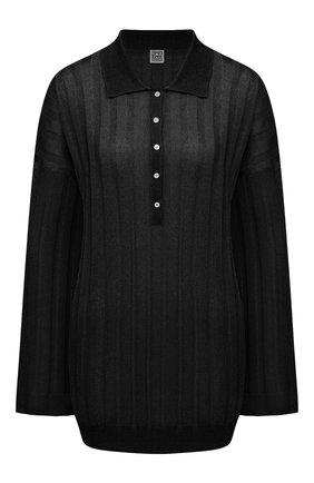 Женский пуловер из вискозы TOTÊME черного цвета, арт. 212-570-760 | Фото 1