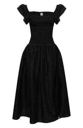Женское платье TOTÊME черного цвета, арт. 212-609-720 | Фото 1