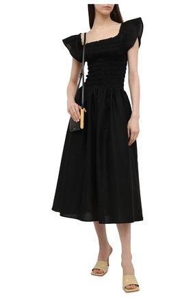 Женское платье TOTÊME черного цвета, арт. 212-609-720 | Фото 2