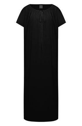 Женское хлопковое платье TOTÊME черного цвета, арт. 212-611-720 | Фото 1