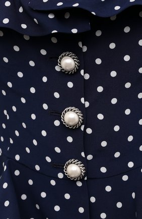 Женский шелковый жакет ALESSANDRA RICH синего цвета, арт. FAB2364-F3132   Фото 5