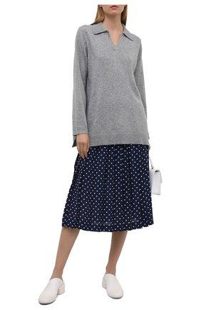 Женская шелковая юбка ALESSANDRA RICH синего цвета, арт. FAB2365-F3132 | Фото 2